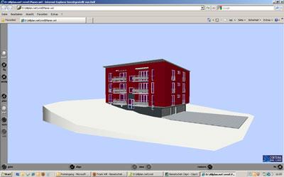 VRML Viewer: 3D Szene mit VRML erstellt