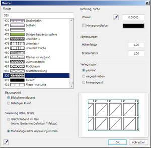 Muster erzeugen in Allplan 2012: Parameter ändern