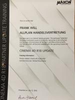 Frank Will Zertifizierung Cinema 4D R18