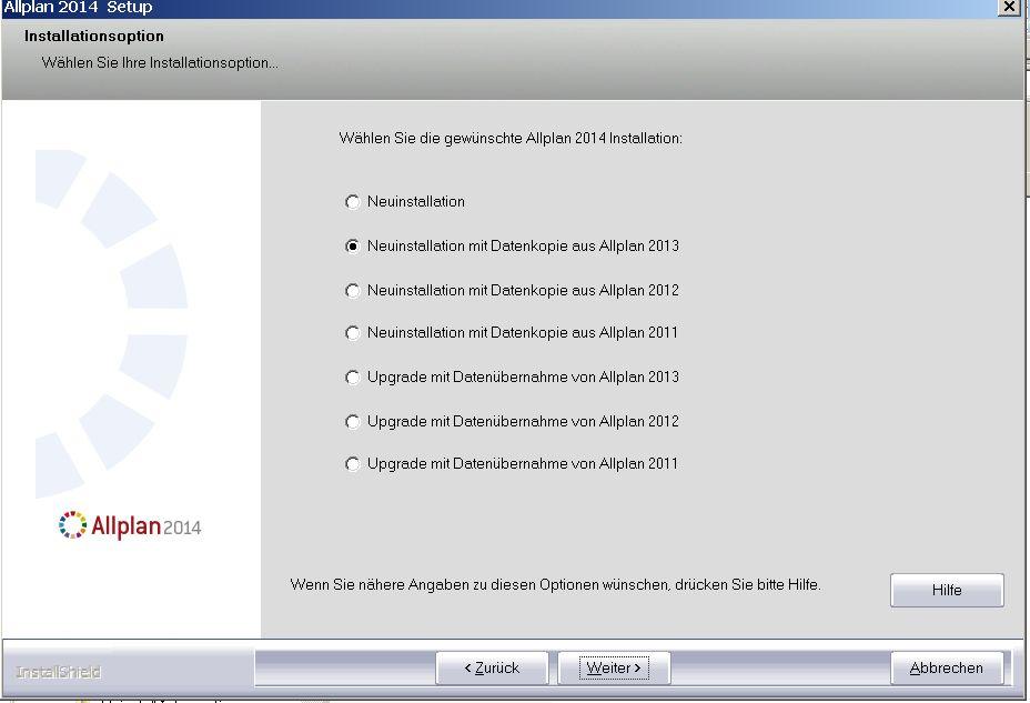 Allplan 2014 Workgroup Manager: Upgrade oder Neuinstallation Allplan