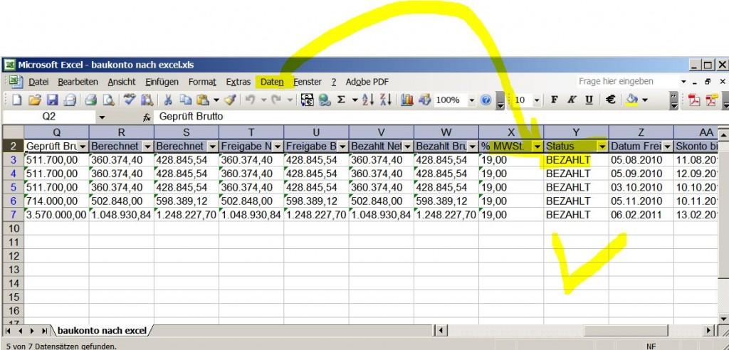 Excel Autofilter