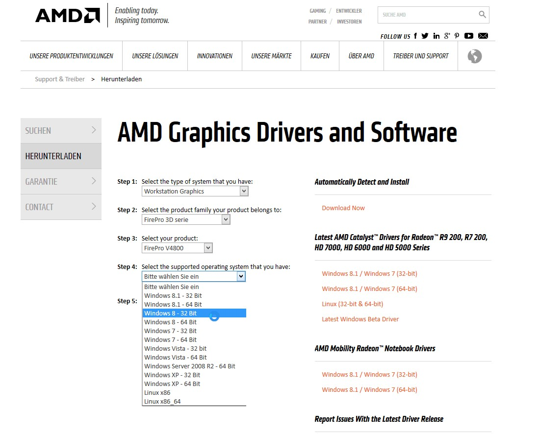 Grafikkarten Treiber AMD