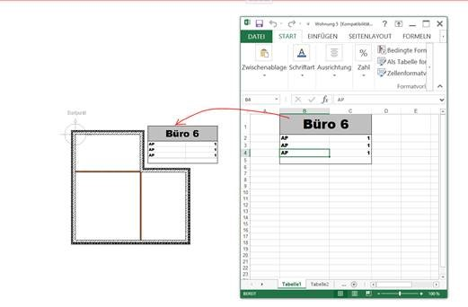 OLE Allplan Excel