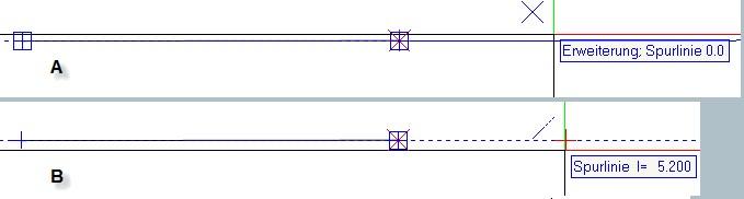 Spurlinie orthogonal