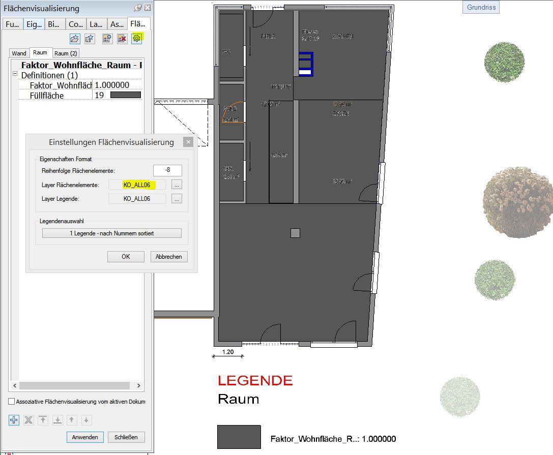 Flächenvisualisierung Layer