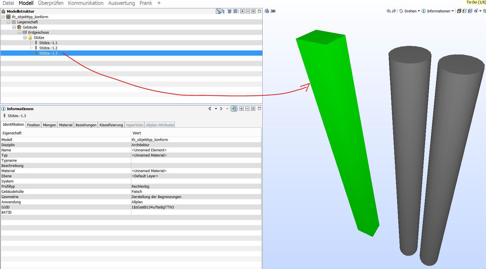 IFC Objekttyp Quader Column Solibri per 2-3