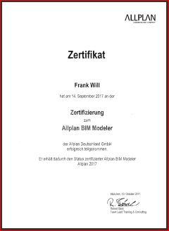 Zertifizierung Allplan BIM Modeler